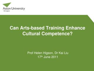 Can Arts-based Training Enhance Cultural Competence?