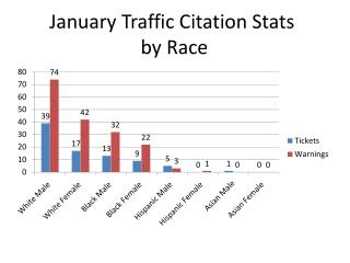 January Traffic Citation Stats  by Race