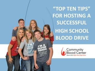 """TOP TEN TIPS""  FOR HOSTING A SUCCESSFUL"