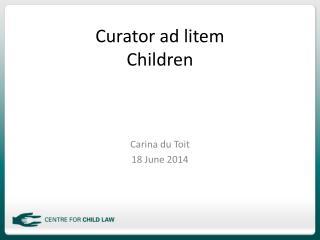 Curator ad litem Children