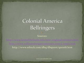 Colonial America Bellringers