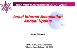 Israel Internet Association Annual Update