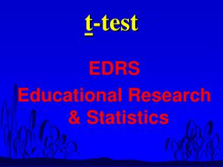 t -test