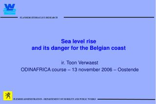 Sea level rise   and its danger for the Belgian coast