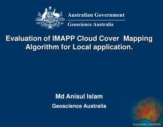 Md Anisul Islam Geoscience Australia