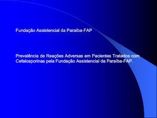Funda  o Assistencial da Para ba-FAP