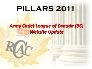 Army Cadet League of Canada (BC) Website Update