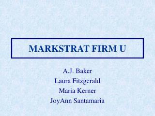 MARKSTRAT FIRM U