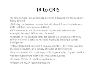IR to CRIS