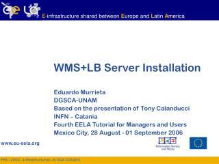 WMS+LB Server Installation