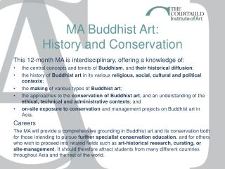 MA Buddhist Art:  History and Conservation