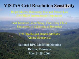 VISTAS Grid Resolution Sensitivity