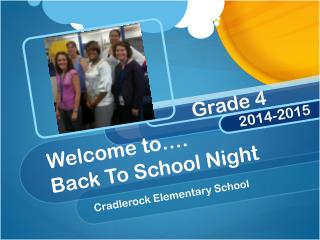 Welcome to…. Back To School Night