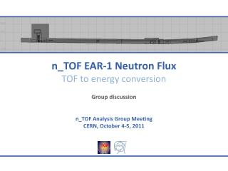 n_TOF  EAR-1 Neutron Flux TOF to energy conversion