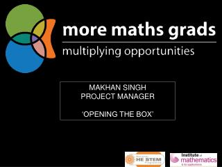 MAKHAN SINGH  PROJECT MANAGER 'OPENING THE BOX'