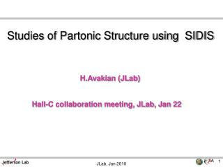 Studies of Partonic Structure using  SIDIS