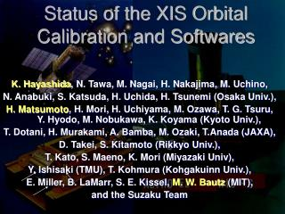 Status of the XIS Orbital Calibration and Softwares
