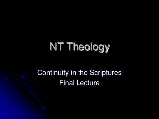 NT Theology