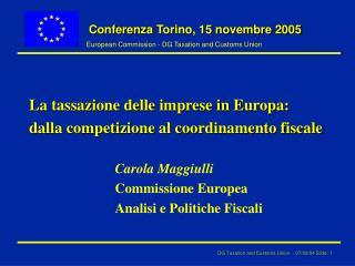 Conferenza  Torino, 15 novembre 2005