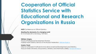 IAOS  Conference on Official Statistics