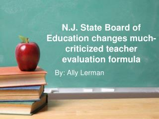 N.J. State Board of Education changes much-criticized teacher evaluation formula