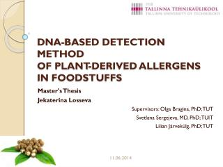 DNA-based detection method of plant-derived allergens in foodstuffs