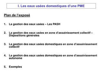 Plan de l�expos� La gestion des eaux us�es � Les PASH