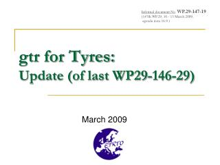 gtr for Tyres: Update (of last WP29-146-29)