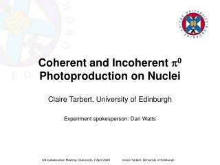Coherent and Incoherent  p 0  Photoproduction on Nuclei