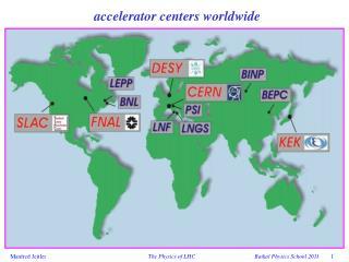 accelerator centers worldwide