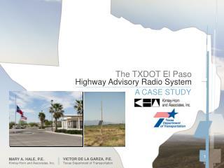 The TXDOT El Paso