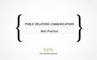 Public Relations CommunicationS B est Practice