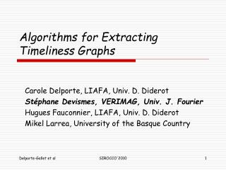 Algorithms for Extracting Timeliness Graphs