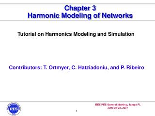 Chapter 3 Harmonic Modeling of Networks