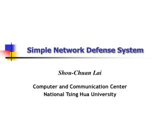 Simple Network Defense System
