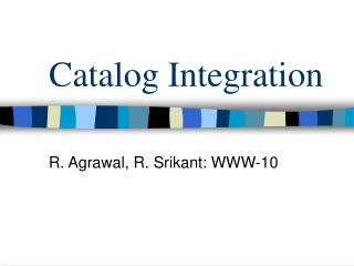 Catalog Integration