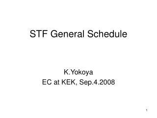 STF General Schedule