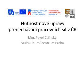 Nutnost nové úpravy přenechávání pracovních sil v ČR