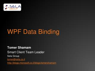 WPF Data Binding