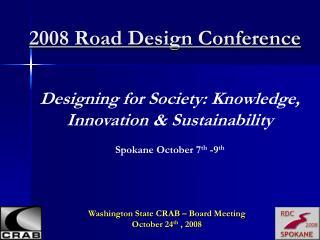 2008 Road Design Conference