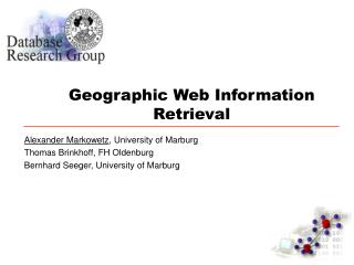 Geographic Web Information Retrieval