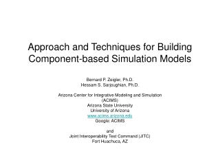 Approach and Techniques for Building Component-based Simulation Models