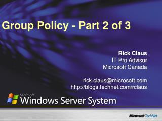 Group Policy - Part 2 of 3