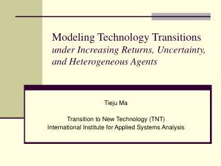 Modeling Technology Transitions  under Increasing Returns, Uncertainty, and Heterogeneous Agents