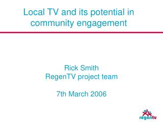 Local TV and its potential in community engagement