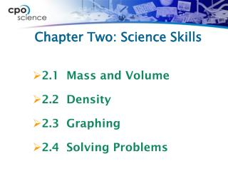 Chapter Two: Science Skills