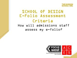 E-Folio Assessment Criteria