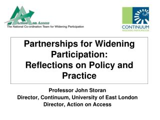 Partnerships for Widening Participation: Reflections on Policy and Practice