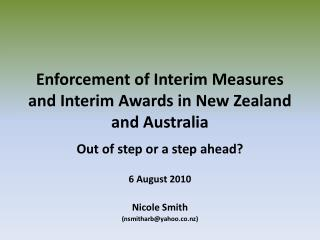 Enforcement of Interim Measures and Interim Awards in New Zealand and Australia