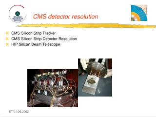 CMS detector resolution